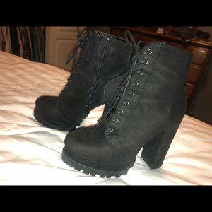Black combat boot heels